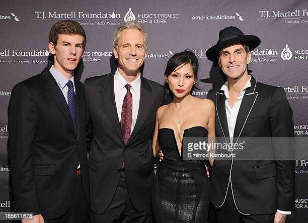 Jack Sykes John Sykes Etty Lau and Perry Farrell attend the TJ Martell Foundation's 38th Annual Honors Gala at Cipriani 42nd Street on October 22...