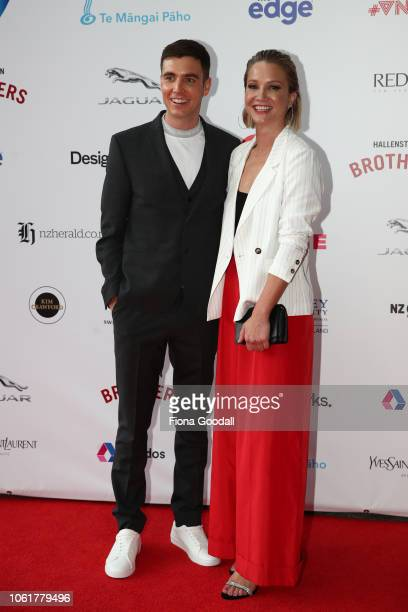 Jack Tame and Hayley Holt attend the 2018 Vodafone New Zealand Music Awards at Spark Arena on November 15 2018 in Auckland New Zealand