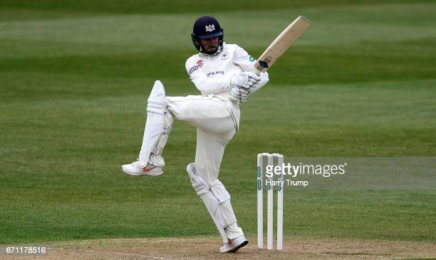 Jack Taylor of Gloucestershire bats during Day One of the Specsavers County Championship Division Two match between Gloucestershire and Durham at The...