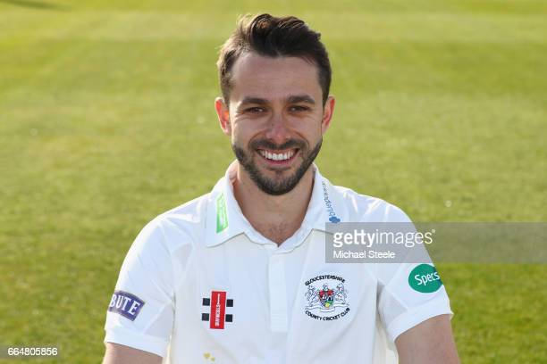 Jack Taylor of Gloucestershire in the Specsavers County Championship kit during the Gloucestershire County Cricket photocall at The Brightside Ground...