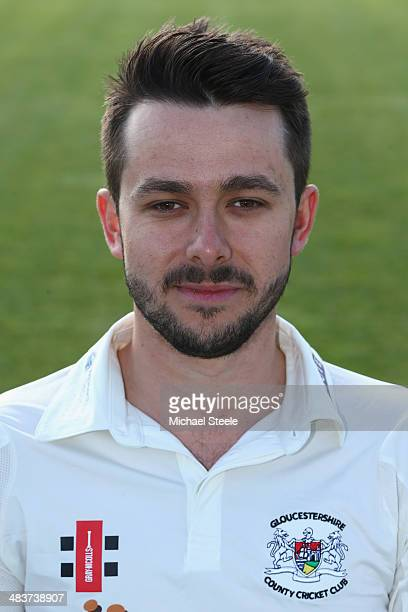 Jack Taylor of Gloucestershire poses for a portrait wearing the LV=CC kit during the Gloucestershire CCC photocall at The County Ground on April 10...