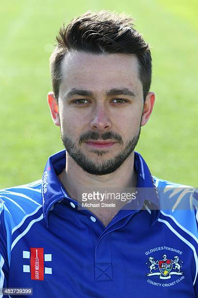 Jack Taylor of Gloucestershire poses for a portrait wearing the Royal London One Day Cup kit during the Gloucestershire CCC photocall at The County...