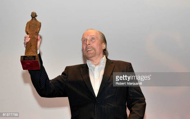 Jack Taylor receives the Nosferatu award during the 42nd Sitges Film Festival at Sitges on October 3 2009 in Barcelona Spain