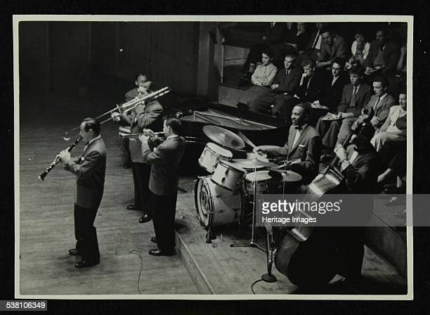 Jack Teagarden's band in concert at Colston Hall Bristol 1957 Peanuts Hucko Jack Teagarden Max Kaminsky Cozy Cole and Jack Lesberg Pianist Earl Hines...