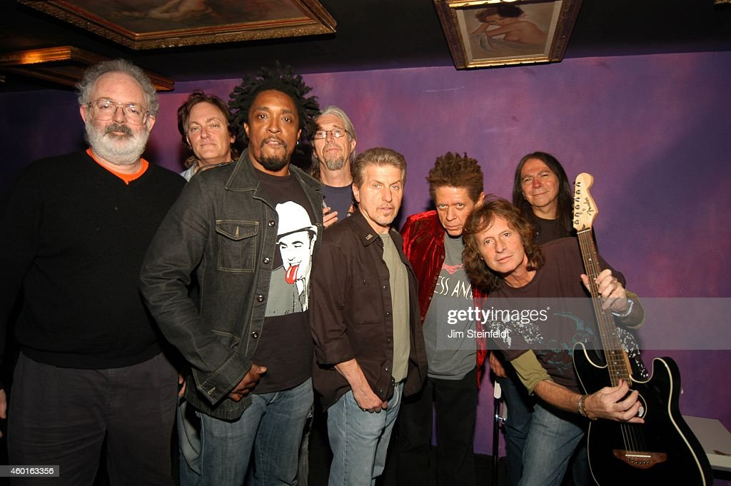 Jack Tempchin, Unknown, Bernard Fowler, Phil Jones, Johnny Rivers, Blondie Chaplin,Brett Tuggle, and Rick Rosas backstage at The Joint in Los Angeles, California on May 22, 2006.
