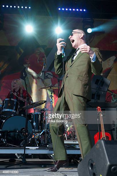 Jack Terricloth of World/Inferno Friendship Society performs at New Orleans City Park on November 2 2014 in New Orleans Louisiana
