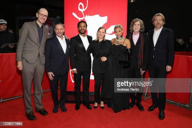 Jack Thorne Alan Poul Andre Holland Joanna Kulig Amandla Stenberg Olivier Bibas and Glen Ballard attend the Netflix premiere of The Eddy during the...