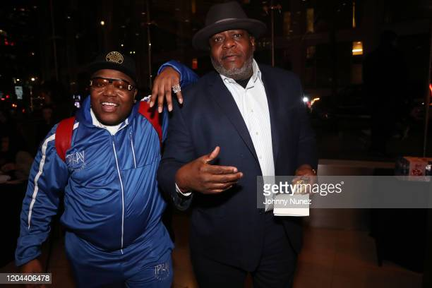 Jack Thriller and DJ Chuck Chillout attend ABC's For Life New York Premiere at Alice Tully Hall Lincoln Center on February 05 2020 in New York City