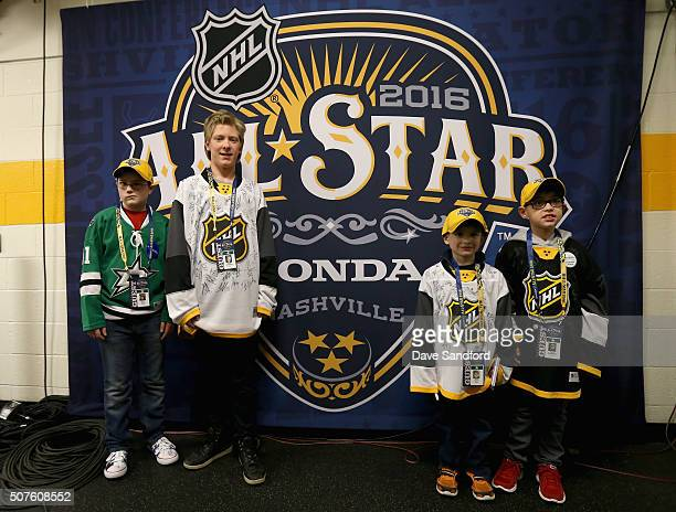 Jack Traxler of MakeAWish America Ryan Smethurst and Nevan Coburn of The Children's Wish Foundation of Canada and Wyatt Morissette of MakeAWish...