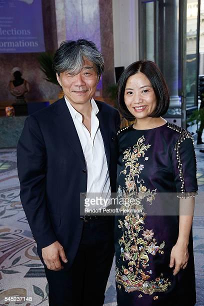 Jack Tsao et Guo Pei attend the Soiree Haute Couture as part of Paris Fashion Week at Le Petit Palais on July 6 2016 in Paris France