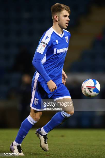 Jack Tucker of Gillingham FC in action during the Sky Bet League One match between Gillingham and Peterborough United at MEMS Priestfield Stadium on...
