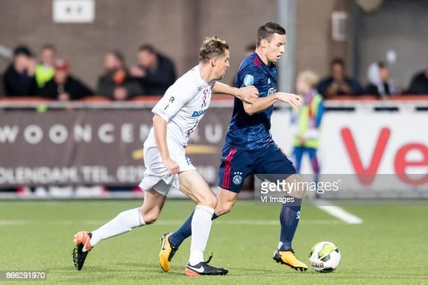 Jack Tuijp of ASV De Dijk Nick Viergever of Ajax during the Second Round Dutch Cup match between De Dijk and Ajax Amsterdam at Kras stadium on...