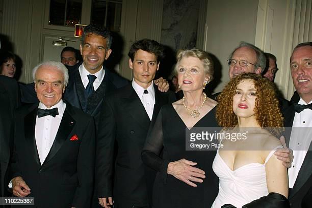 Jack Valenti Brian Stokes Mitchell Johnny Depp Angela Lansbury and Bernadette Peters