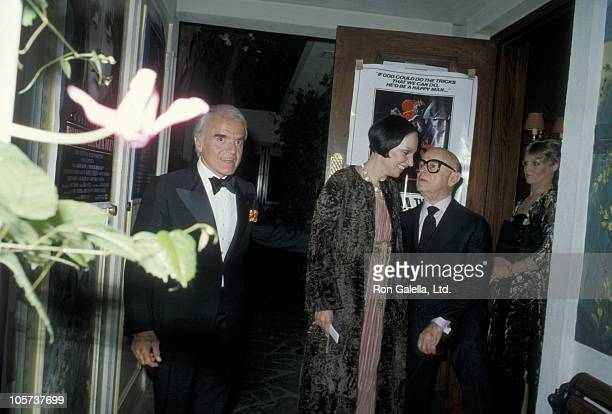 Jack Valenti, Mary McFadden and Swifty Lazaar during Swifty Lazaar's Academy Awads Party at Bistro Gardens - March 31, 1981 at Bistro Gardens in...