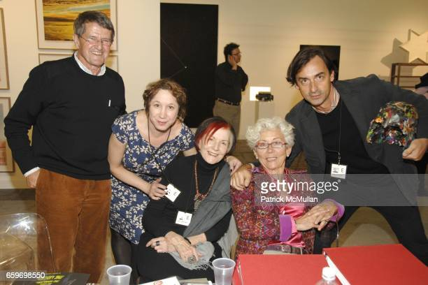 Jack Van Hulst Leah Friedman Jane Lombard Wiesje Van Hulst and Cristian Alexa attend The 2009 Armory Show at Piers 92 94 on March 5 2009 in New York...