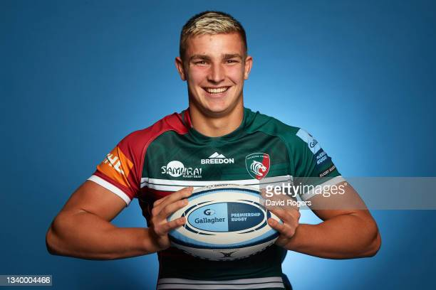 Jack van Poortvliet of Leicester Tigers poses for a photo during the Gallagher Premiership Rugby Season Launch at Twickenham Stadium on September 09,...