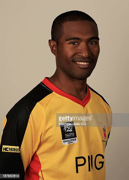 Jack Vare of Papua New Guinea pictured during a headshot session ahead of the ICC World Twenty20 Qualifiers on November 11 2013 in Dubai United Arab...