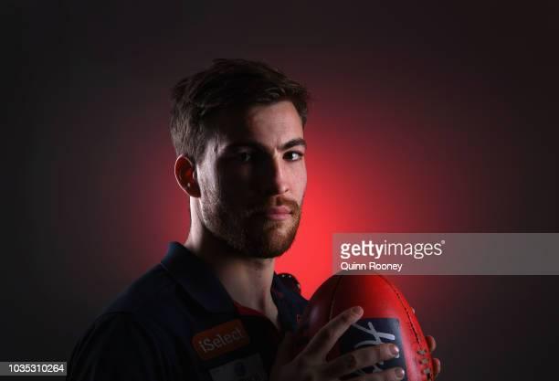Jack Viney of the Demons poses during a Melbourne Demons AFL media opportunity at AAMI Park on September 18 2018 in Melbourne Australia
