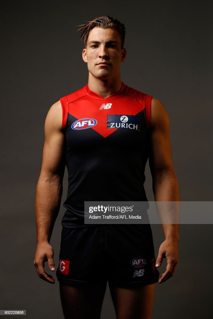 Jack Viney of the Demons poses during the AFL Captains Day at Etihad Stadium on March 15, 2018 in Melbourne, Australia.
