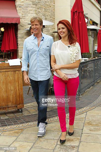 Jack Wagner and Anna Trebunskaya are sighted at the Grove on March 6 2012 in Los Angeles California
