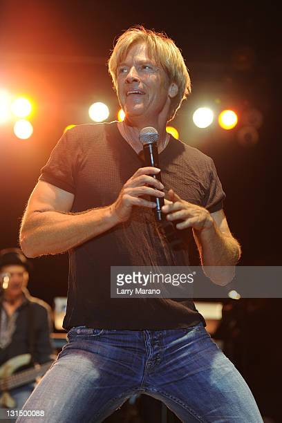 Jack Wagner performs at Mizner Park Amphitheatre on November 4 2011 in Boca Raton Florida