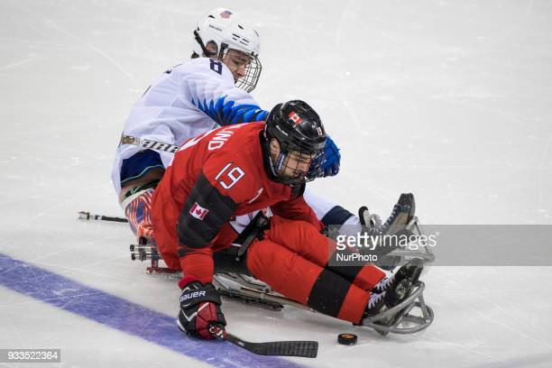 Jack WALLACE and Dom COZZOLINO during The Ice Hockey gold medal game between Canada and United States during day nine of the PyeongChang 2018...