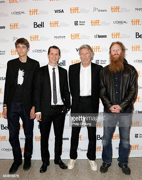 Jack Waters director Sean Evans director/musician Roger Waters and musician Harry Waters attend the 'Roger Waters The Wall' premiere during the 2014...
