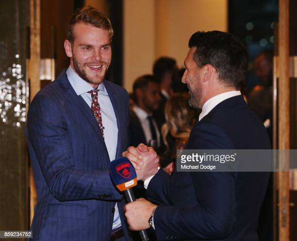 Jack Watts arrives at the Melbourne Demons Best Fairest at Crown Palladium on October 9 2017 in Melbourne Australia