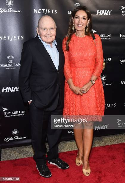 Jack Welch and Suzy Welch attend the Forbes Media Centennial Celebration at Pier 60 on September 19 2017 in New York City