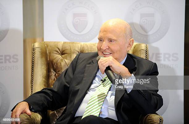 Jack Welch attends the DailyMailcom Answers To Correspondents with Jack Suzy Welch on April 15 2015 in New York City