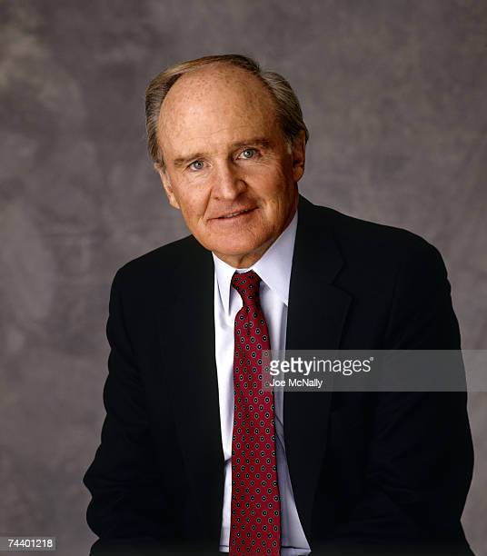 Jack Welch CEO and business mogul of General Electric stands for a portrait at GE's headquarters during February of 1989 in Fairfield Connecticut...
