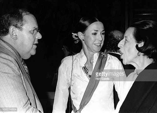 Jack Weston Guest and Diana Vreeland during The Ritz New York City Premiere at Four Seasons Restaurant in New York City New York United States