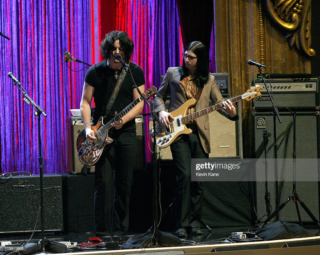 Jack White and Jack Lawrence of the Raconteurs perform 'Reveal'
