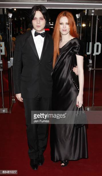 Jack White and wife Karen Elson attends the world premiere of 'Quantum of Solace' at Odeon Leicester Square on October 29, 2008 in London, England.