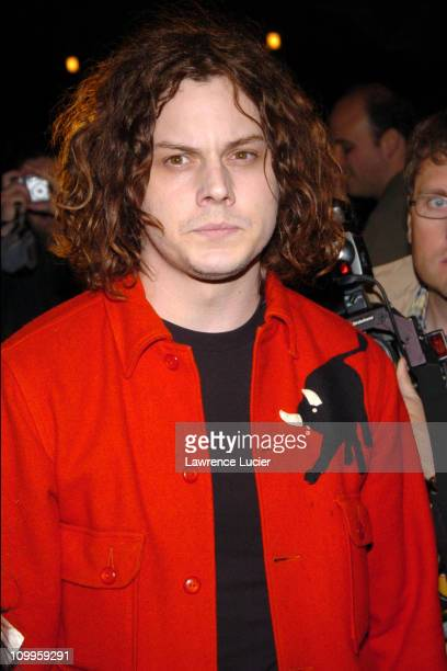 Jack White during 3rd Annual Tribeca Film Festival Coffee And Cigarettes New York Premiere at Stuyvesant High School in New York City New York United...