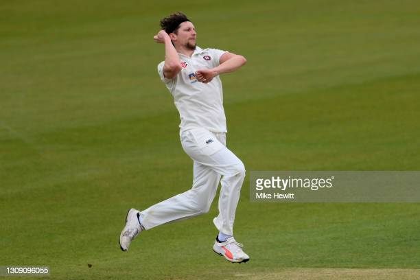 Jack White of Northamptonshire in action during Day 1 of a pre-season warm up Match between Hampshire and Northamptonshire at Ageas Bowl on March 25,...