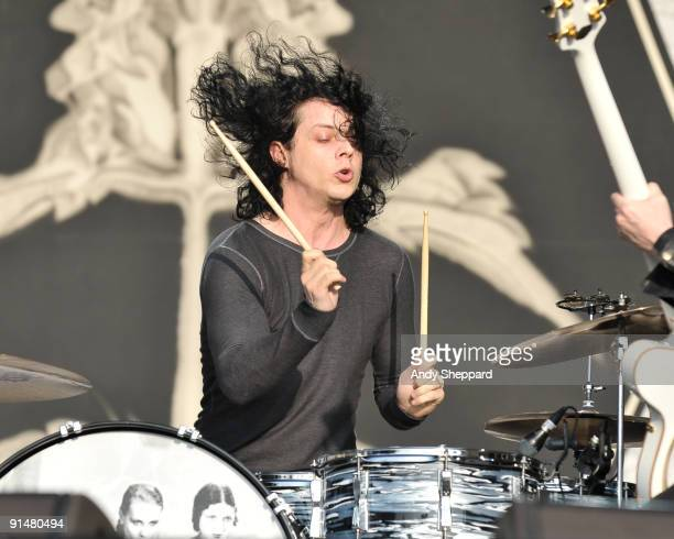 Jack White of The Dead Weather performs on stage on Day 3 of Austin City Limits Festival 2009 at Zilker Park on October 4, 2009 in Austin, Texas.