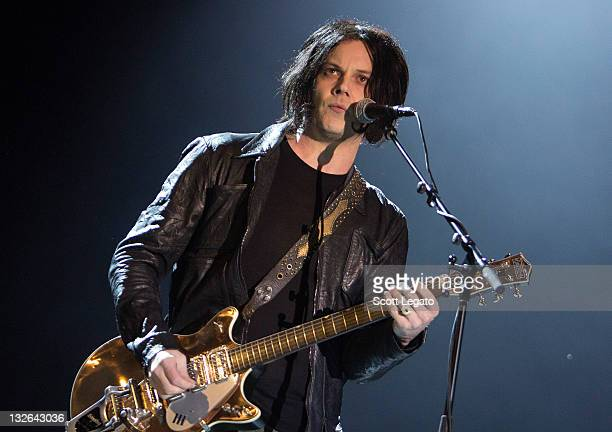 Jack White of The Raconteurs performs at Orlando Calling Music Festival Day 1 at Florida Citrus Bowl on November 12 2011 in Orlando Florida