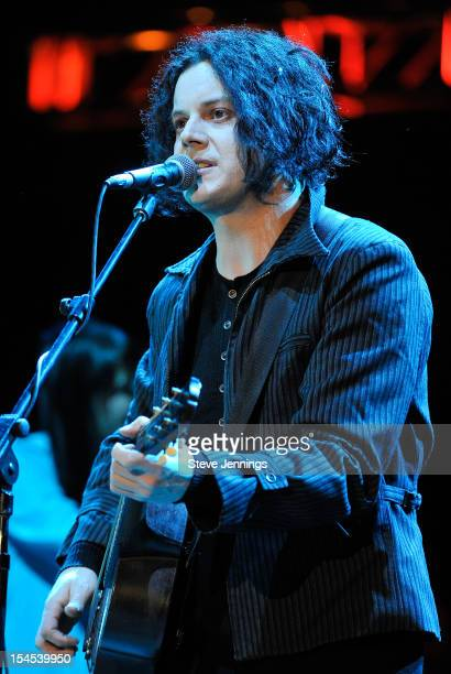 Jack White performs at the 26th Annual Bridge School Benefit at Shoreline Amphitheatre on October 20, 2012 in Mountain View, California.