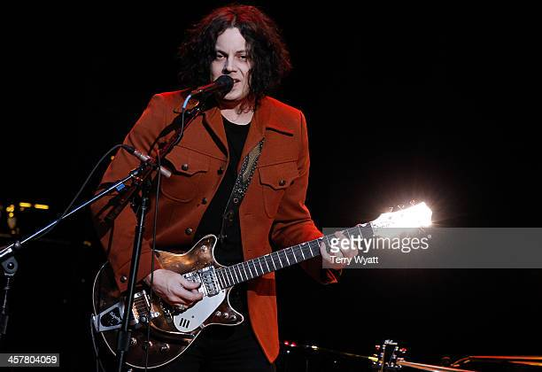 Jack White performs during Brendan Benson and Friends at the Ryman Auditorium on December 18 2013 in Nashville Tennessee