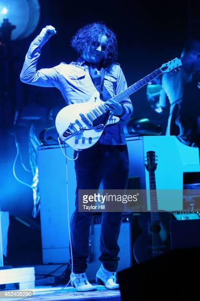 Jack White performs during the 2014 Forecastle Music Festival at Louisville Waterfront Park on July 19, 2014 in Louisville, Kentucky.