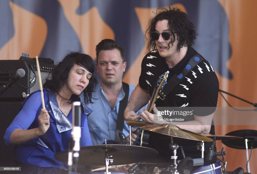 Jack White performs during the 2018 New Orleans Jazz & Heritage Festival at Fair Grounds Race Course on May 6, 2018 in New Orleans, Louisiana.