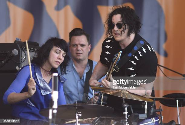 Jack White performs during the 2018 New Orleans Jazz Heritage Festival at Fair Grounds Race Course on May 6 2018 in New Orleans Louisiana
