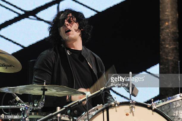 Jack White performs on stage during the iTunes Festival at The Roundhouse on July 2 2011 in London England
