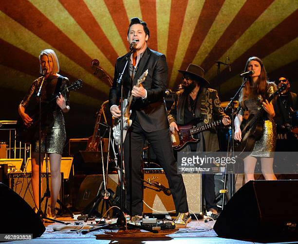 Jack White performs onstage at the 25th anniversary MusiCares 2015 Person Of The Year Gala honoring Bob Dylan at the Los Angeles Convention Center on...