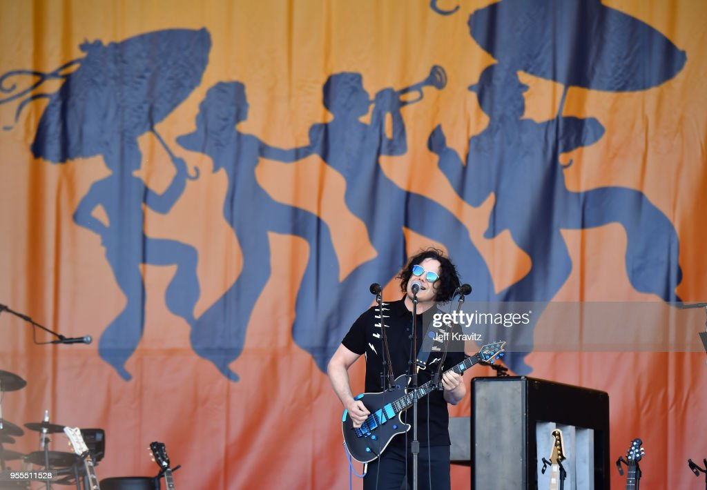 Jack White performs onstage during Day 7 of the 2018 New Orleans Jazz & Heritage Festival at Fair Grounds Race Course on May 6, 2018 in New Orleans, Louisiana.