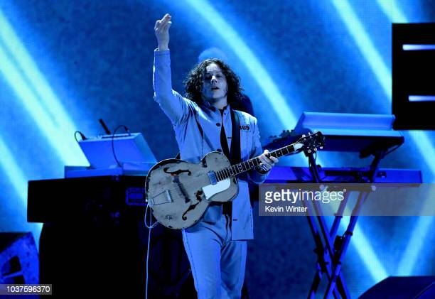 Jack White performs onstage during the 2018 iHeartRadio Music Festival at TMobile Arena on September 21 2018 in Las Vegas Nevada