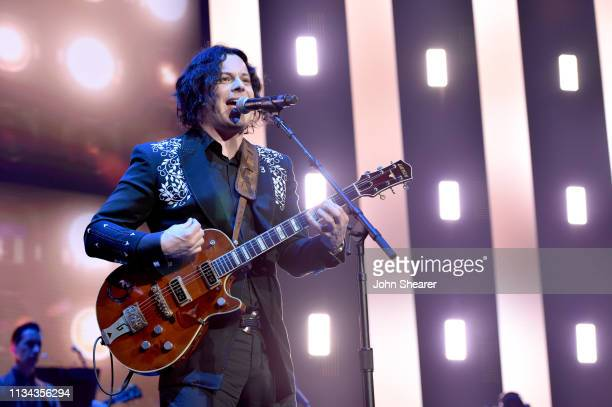 Jack White performs onstage for Loretta Lynn An AllStar Birthday Celebration Concert at Bridgestone Arena on April 1 2019 in Nashville Tennessee