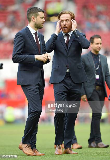 Jack Whitehall and Damian Lewis attend Soccer Aid 2016 at Old Trafford on June 5, 2016 in Manchester, United Kingdom.