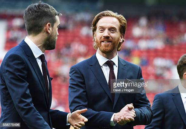 Jack Whitehall and Damian Lewis attend Soccer Aid at Old Trafford on June 5, 2016 in Manchester, England.